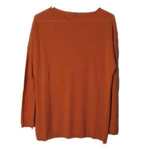 Vince orange light long sleeve viscose wool blend